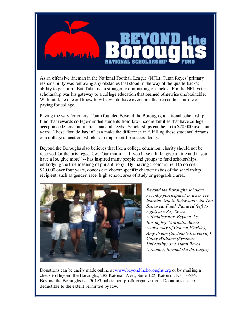 Beyond The Boroughs Marketing Piece